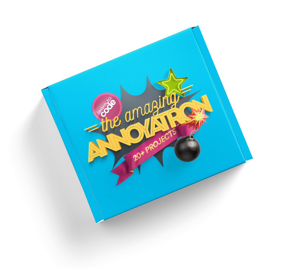 The Amazing Annoyatron is an award-winning tech kit that teaches kids how to code.