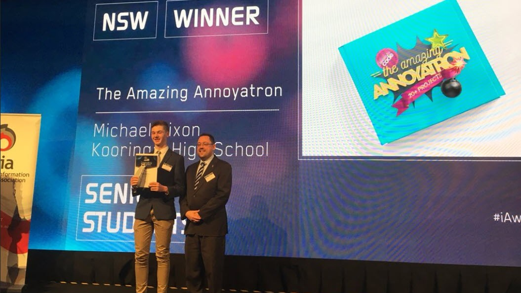 The Amazing Annoyatron wins NSW iAward
